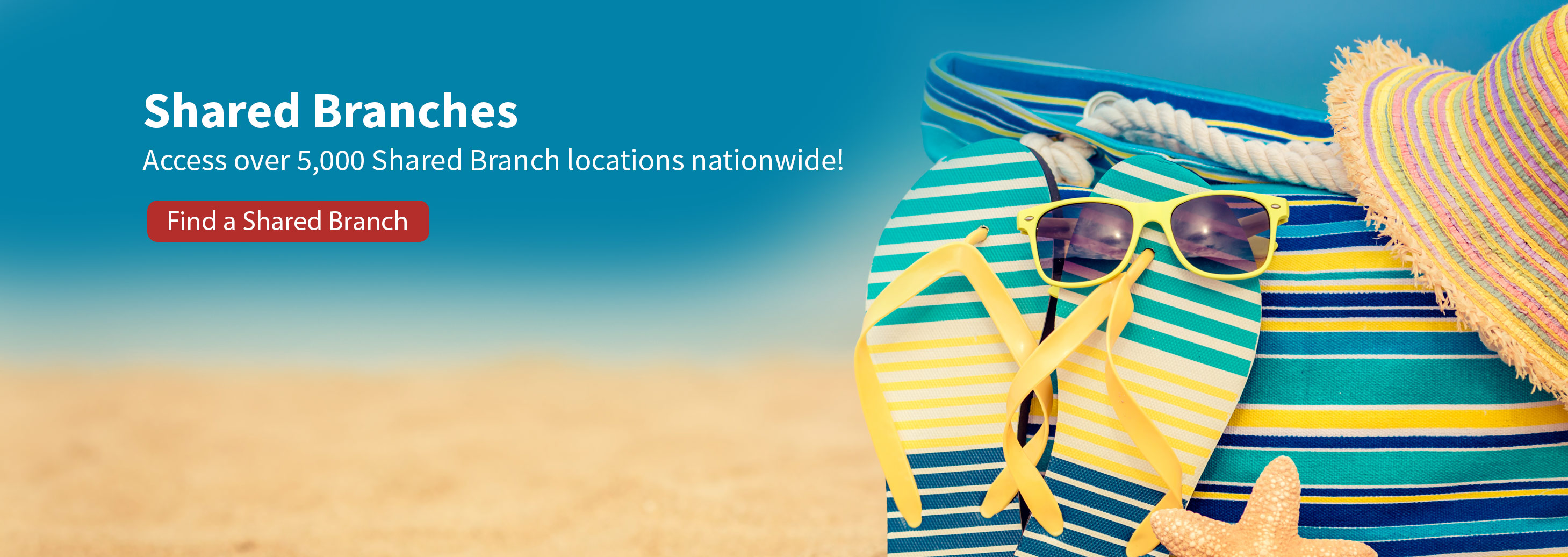 Access over 5,000 shared branch locations nationwide! Find a shared branch